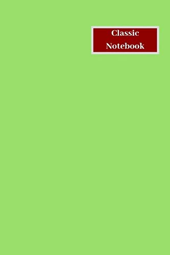 Classic Notebook: 96 Pages, 6 x 9 inches, Daily Paperback Notebook