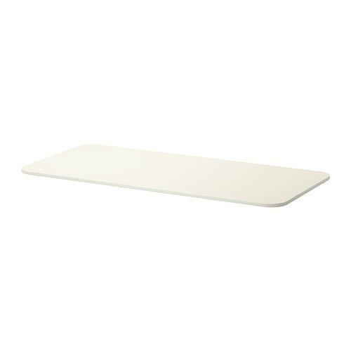 IKEA BEKANT Tischplatte in weiß; (140x60cm)