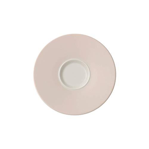 Villeroy & Boch Caffè Club Uni Pearl Sous-tasse à café au lait, 17 cm, Porcelaine Premium, Blanc/Rose