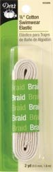 Dritz Bulk Buy Cotton Swimwear Elastic 3/8 inch x 2 Yards Natural (3 Pack)