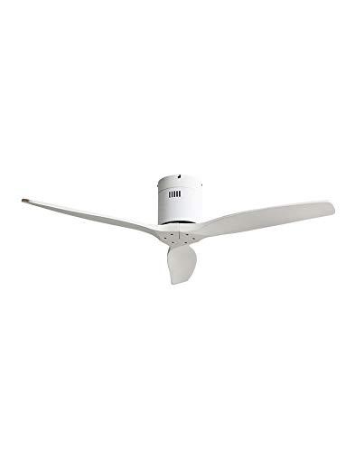 TODOLAMPARA - Ventilador de techo motor DC modelo AGUILON Blanco, 3 aspas,...