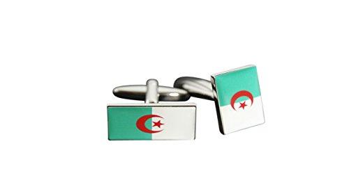 Flaggenfritze® Manschettenknöpfe Fahne / Flagge Algerien
