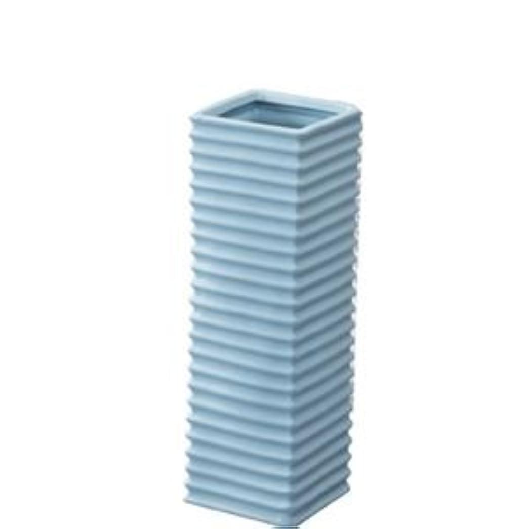 パテ外観過度の陶製傘立て/アンブレラスタンド 【ブルー】 幅15cm×奥行15cm×高さ45cm 陶器 『フロット