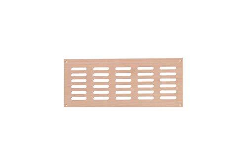 eliga Lüftungsgitter aus Holz, für circa 100 cm² Luftdurchlass