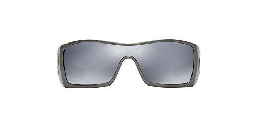 Big Sale Oakley Men's Batwolf Polarized Rectangular Sunglasses,Granite Frame/Black Iridium Lens,one size