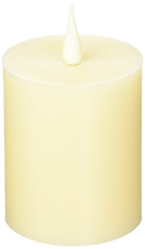 Candlescence Flameless Battery Operated LED Real Wax Pillar Candle with Timer (3.5x4)