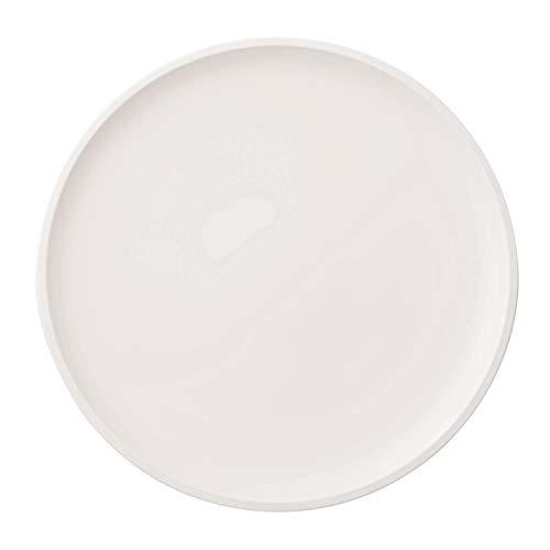 Villeroy & Boch - Assiette à Pizza Artesano Original, Grande Assiette au Bord Surélevé en Porcelaine Premium Blanche, Compatible Lave-Vaisselle, 32 cm