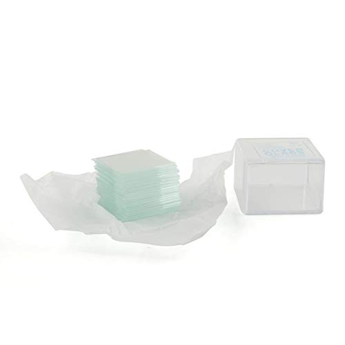 E-outstanding Coverslip 100PCS 22x22mm Glass Microscope Covers for Basic Biological Science Education Biology Slides