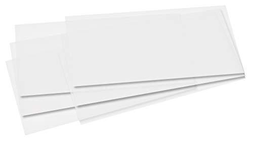 folia 77075 Transparentpapierzuschnitte, 155 x 370 mm, weiá