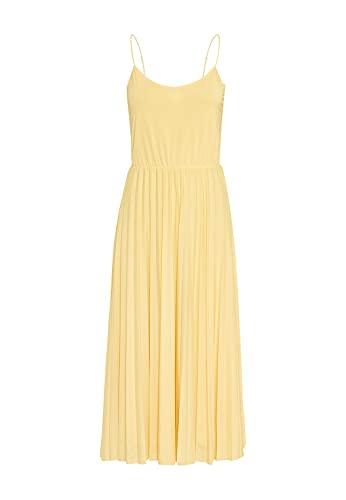 HALLHUBER Midilanges Plisseekleid aus Jersey ausgestellter Schnitt vanille, L