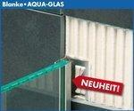 AQUA-KEIL GLAS,Edelstahl verchromt, 120cm lang, 37 mm hoch, linker Anschlag