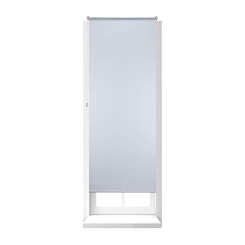 Relaxdays Store Enrouleur Thermique Occultant Chaînette latérale Fixation clips sans perçage, 80 x 210 cm, blanc
