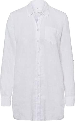 BRAX Damen Style Victoria Linen Bluse, Weiß (White 99), 48