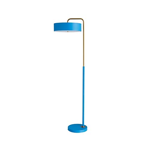 Floor Lamp-LED huiskamer Super Bright Floor Light-Tall Standing Modern Pole Light for slaapkamer en Office-Bedroom Reading Light DZE (Color : Blue, Size : 45cm*158cm)