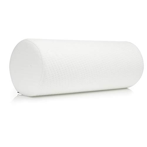 Large Bamboo Cervical Neck Support Pillow, Memory Foam Bolster Pillow for Sleeping, Roll Pillow for Neck, Back & Shoulder Pain Relief, 18.5 in Length x 6 in | Removable Washable Cover