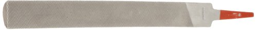 """Simonds Hand File, American Pattern, Double Cut, Half-Round, Fine, 4"""" Length, 7/16"""" Width, 1/8"""" Thickness"""