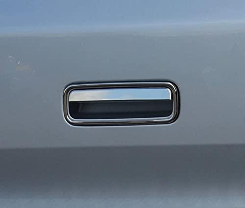para T5 Transporter 2010-2015 Acero inoxidable cromado puerta trasera maletero manija cubierta 2 piezas