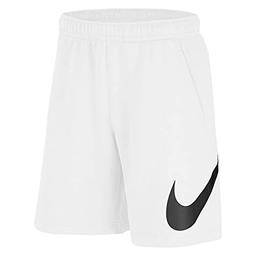 Nike Sportswear Club - Pantalones cortos con logo gráfico para hombre Bv2721-100 - blanco - XX-Large