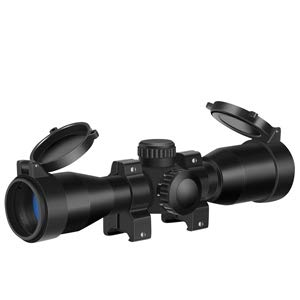 MA3TY 4x32 Crossbow Scope, 5 RGB Retical Red Green Illuminated Crossbow Optics Mount Included