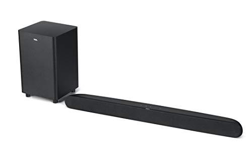 TCL Soundbar TS6110 per TV con Subwoofer Wireless, Bluetooth (32-inch Speaker, Dolby Audio, HDMI ARC, Montaggio a parete, Telecomando, tre modalità di suono), Nero, 240w