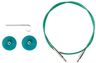 Options Interchangeable Circular Knitting Needle Cables - Green Cables (32