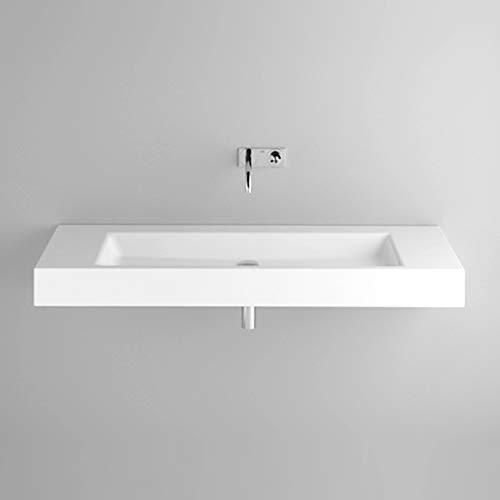 Bette Aqua Wand-Waschtisch mit Hahnloch, A052 1400 x 495 mm, Farbe: Weiß
