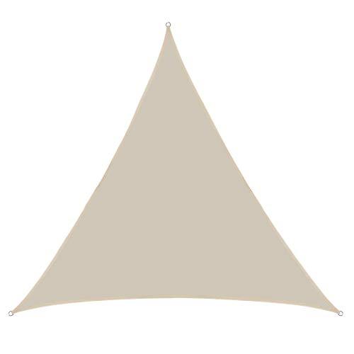 Dasing 13FT Beige Soleil Abat-Jour Voile à Trois Coins Auvent PerméAble Auvent Pergolas Couverture SupéRieure PerméAble UV Bloc Tissu Durable en Plein Air
