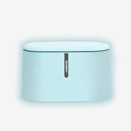 WAGA Cestino del Desktop per Ufficio Desktop Tavolino da caffè Cucina Simplicity Small Barbarge Can Beach Plastic Back PANNORE Portata (Color : Blue)