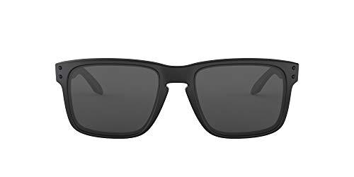 Oakley Gafas de sol Holbrook para hombre, talla única, Logo de la bandera de color negro mate/gris, M