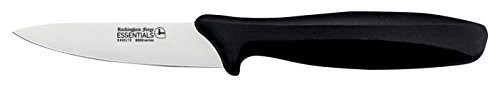 "Rockingham Forge Essentials 8007 Range Lightweight Stainless Steel 3.5"" Paring Knife with Black Handle, Individually Carded"