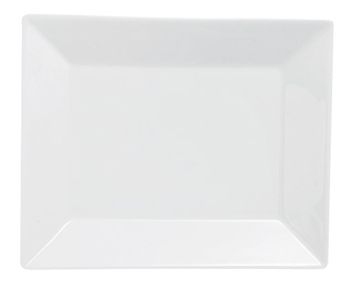 Excelsa Tokyo Teller Obst, Porzellan, Weiß, 21x 17.5x 2.5cm