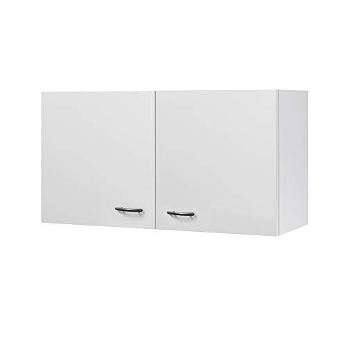 Flex-Well Küchen-Hängeschrank UNNA | Oberschrank vielseitig einsetzbar | 2-türig | Breite 100 cm | Weiß