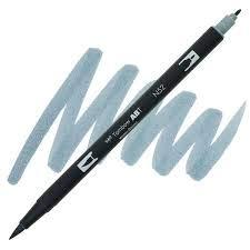 Dual Brush Pen Tombow Cool Gray 8 N52