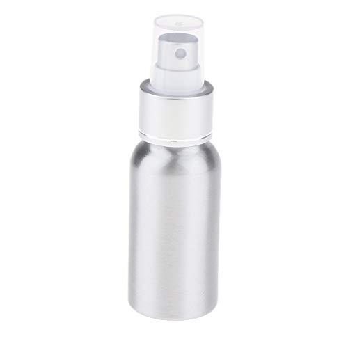 Generic 1 Botella Atomizadora de Perfume Vacía de 30/50/100/120/250 Ml con Pulverizador de Bomba, Recipiente Dispensador Recargable para Agua de Rosas, Tóner, Plata 50ml