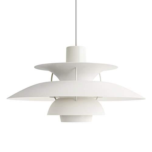 PH 5 Hängeleuchte, Louis Poulsen, Pendelleuchte Entworfen von Poul Henningsen (Monochromes Weiß)