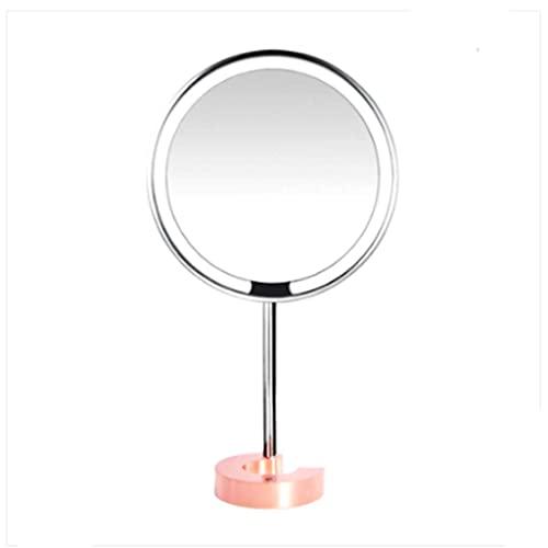 WFY Maquillaje Espejo Maquillaje Espejo HD luz de Maquillaje Espejo de Escritorio Espejo de Escritorio Espejo con luz pequeña y Conveniente
