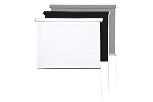 Sunce24 Verdunkelungsrollo Lichtundurchlässig Thermo Sichtschutz Rollo Abdunkelnd 90 x 200 cm, weiß