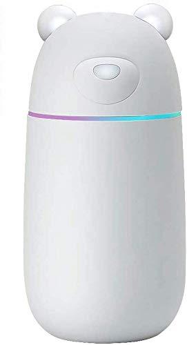 Humidificador de niebla fresco ultrasónico, humidificadores de automóviles Purificador de aire de la unidad de humidificación premium con un funcionamiento con susis tranquilidad, apagado automático y