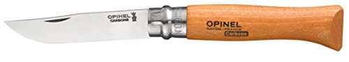 Opinel No9 Carbon Steel Folding Pocket Knife with Beechwood Handle