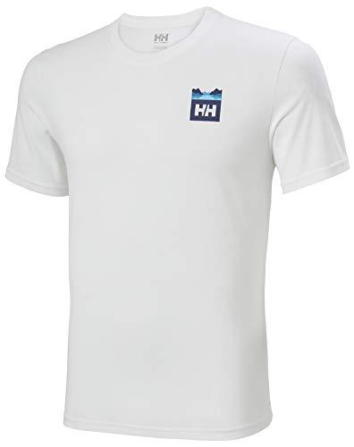 Helly Hansen Nord Graphic HH T-Shirt Homme, Blanc, M