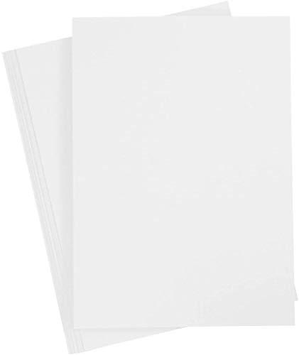 Bastelpapier Weiß, 20 Blätter, DIN A4 210x297 mm, 70 g. Tonpapier zum Basteln und Gestalten