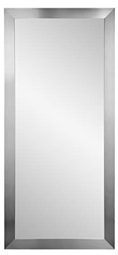BrandtWorks BM1floor USA Made Grand Silver Leaning Floor Mirror, 32 X 71