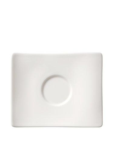 Villeroy & Boch 10-2525-1431 NewWave Mokka-/Espresso-Untertasse, 14 x 11 cm, Premium Porzellan in geschwungener Form, 1-teilig