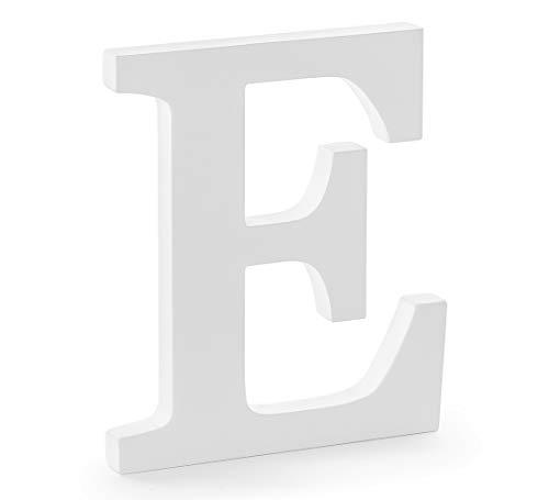 DekoHaus Weiß Holzbuchstabe E 17 x 20 cm