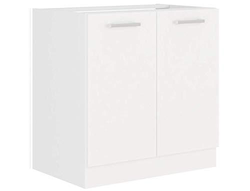 EKO White Spülenschrank 80 Weiss matt Küchenzeile Küchenblock Küche Einbauküche