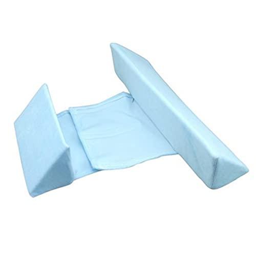 Simdaortawery Posicionamiento Triangular Kids Sleep Pillow Triangular Positioning Kid Pillow Home Side Sleeping Pillow Azul