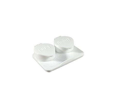 12-Pack, Deep Well Flip-top White Contact Lens Cases