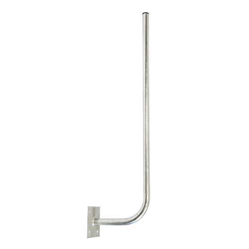 PremiumX 30cm Wandhalter 120cm Mast Stahl verzinkt SAT Antenne Wandhalterung Wand Montage Halter Wandabstand 30 cm Ø 38mm