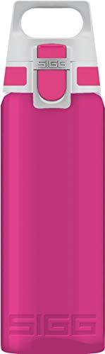 SIGG Total Color Berry Trinkflasche (0.6 L), schadstofffreie und auslaufsichere Trinkflasche, leichte und bruchfeste Trinkflasche aus Tritan, Pink