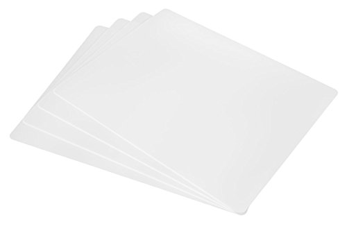 Professional White Cutting Board Mat 4 Pack Set, NSF Certified, 24 x 18 Inch Extra Large